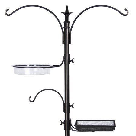 Best Choice Products Garden Deluxe Bird Feeding Station Kit Stand Multi Tier W/ Bird Bath, 82
