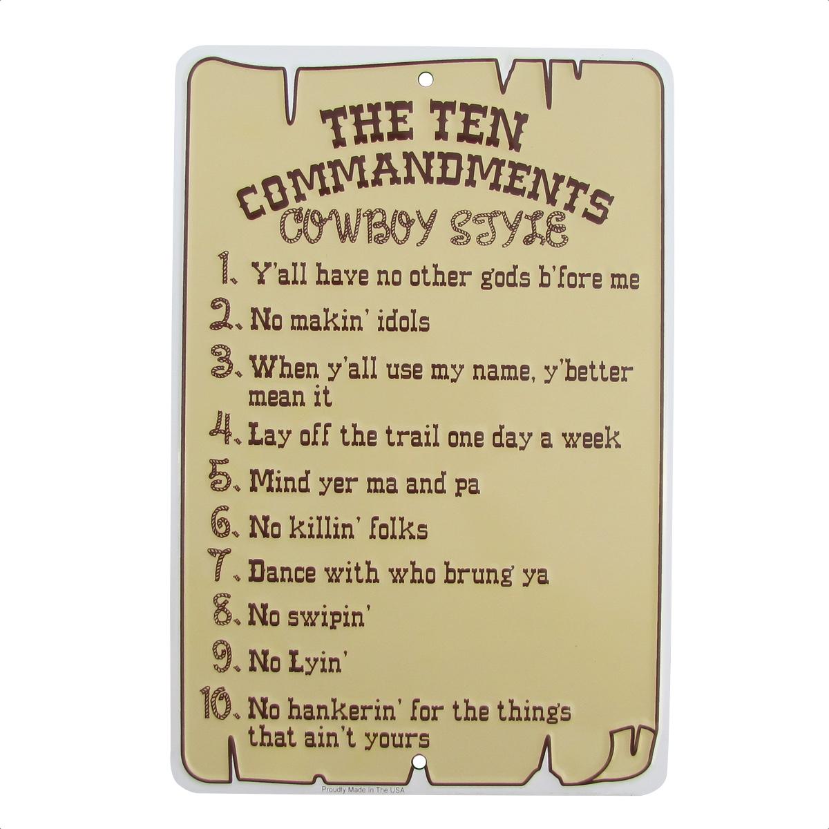 ten christian commandments