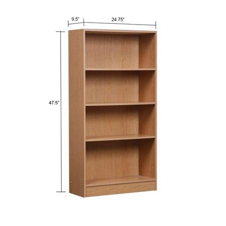 """Orion 47"""" 4-Shelf Bookcase, Multiple Finishes"""