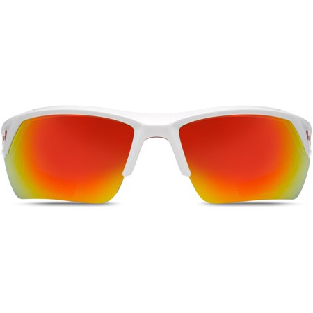 72dac124e07 Under Armour Igniter 2.0 Sunglasses Shiny White   Orange - Walmart.com