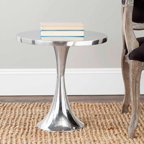 Safavieh Galium Aluminum Side Table, Silver