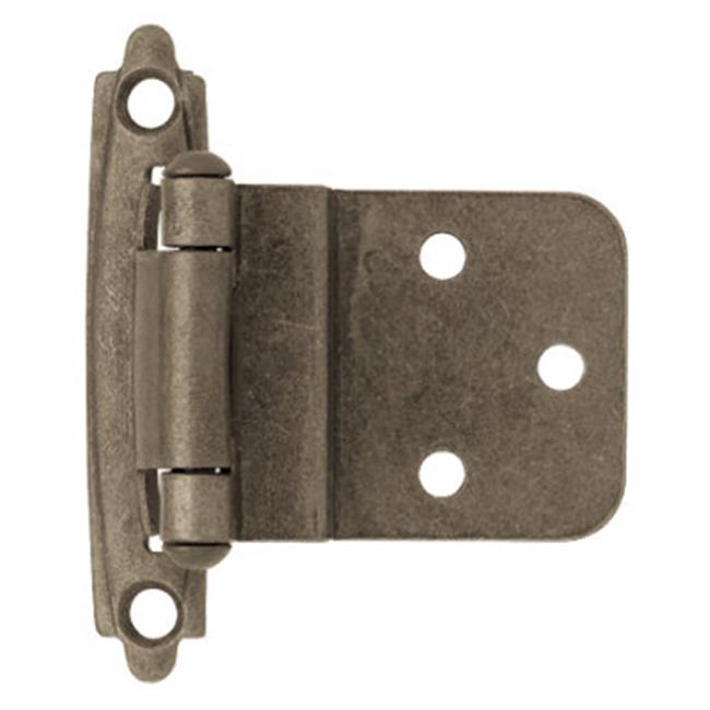 H0104AC-AP-O3 Self Closing Inset Hinge, Antique Pewter - 0.38 in.