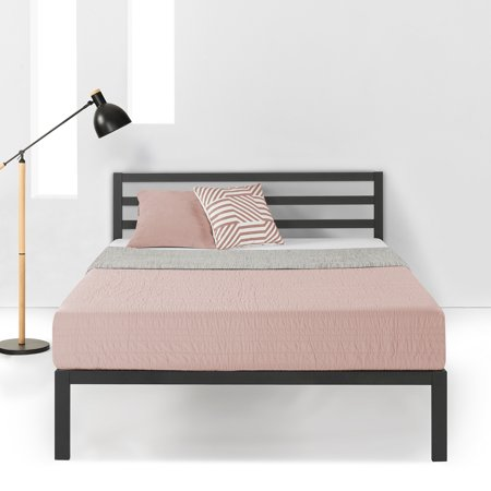 Best Price Mattress 14 Inch Heavy Duty Metal Platform Bed with Headboard and Wooden Slat