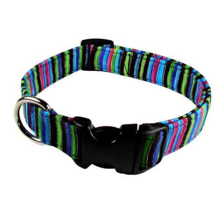 Country Brook Petz™ Deluxe Multiple Color Stripes Designer Dog Collar