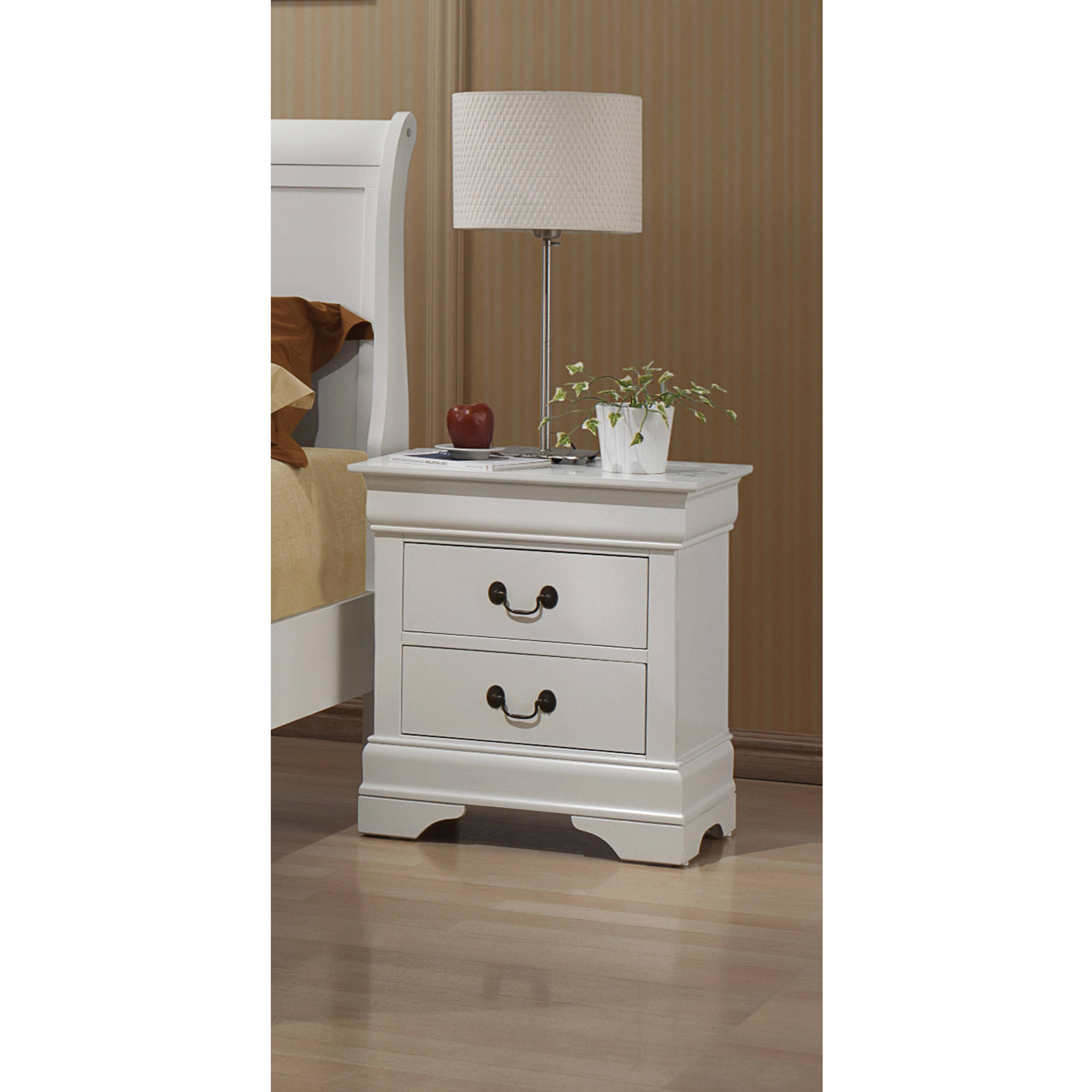 coaster company louis philippe collection nightstand white  - coaster company louis philippe collection nightstand white  walmartcom