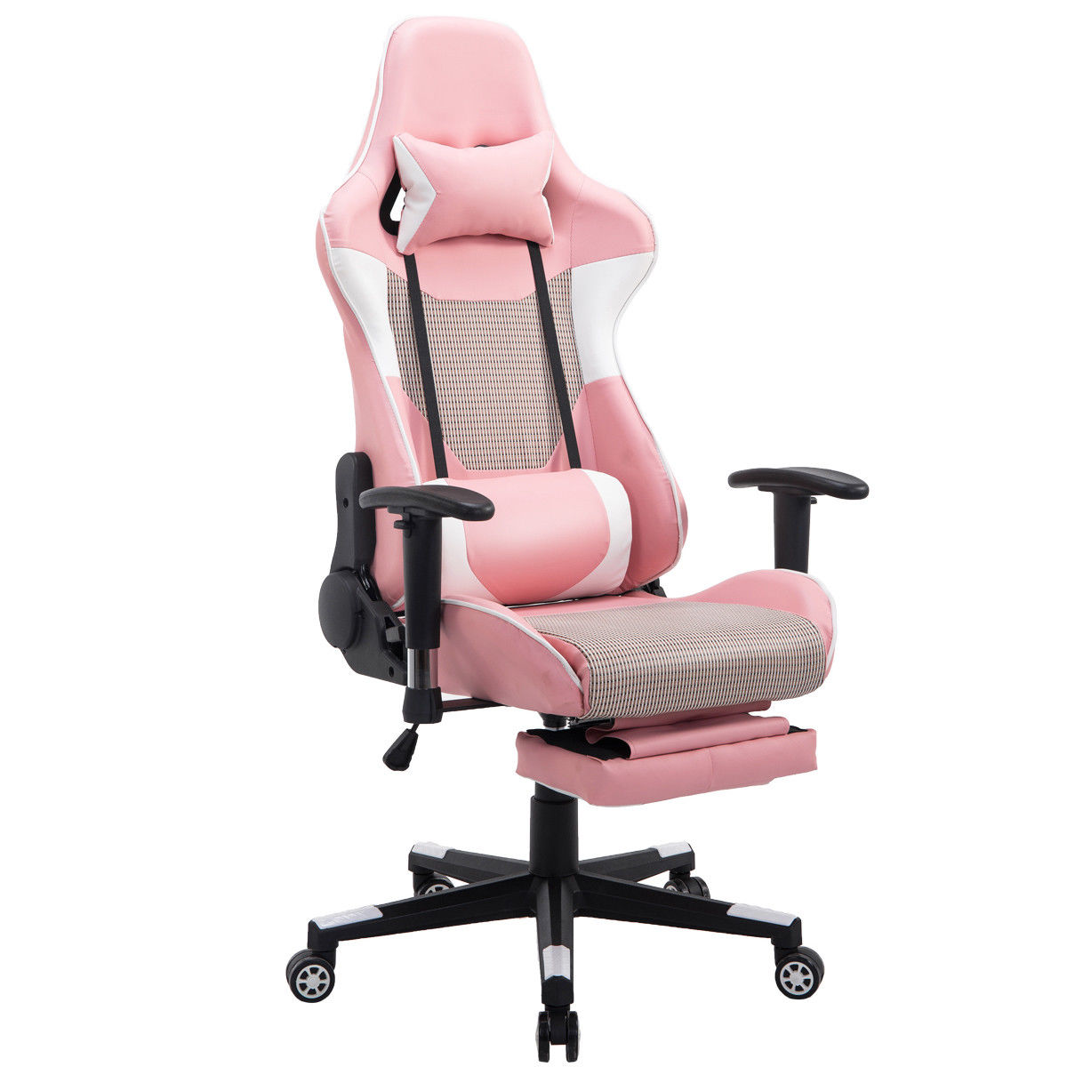 Delicieux Costway Ergonomic Gaming Chair High Back Racing Office Chair W/Lumbar  Support U0026 Footrest