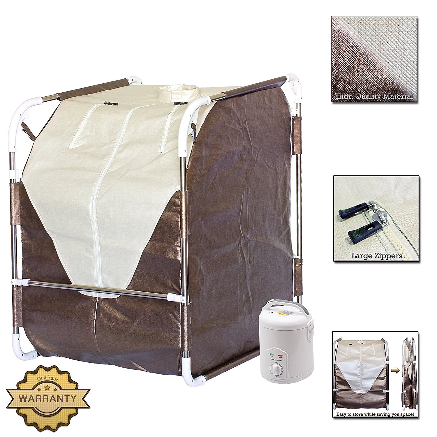 DURHERM Portable Folding Spa Home Steam Sauna for Detox T...
