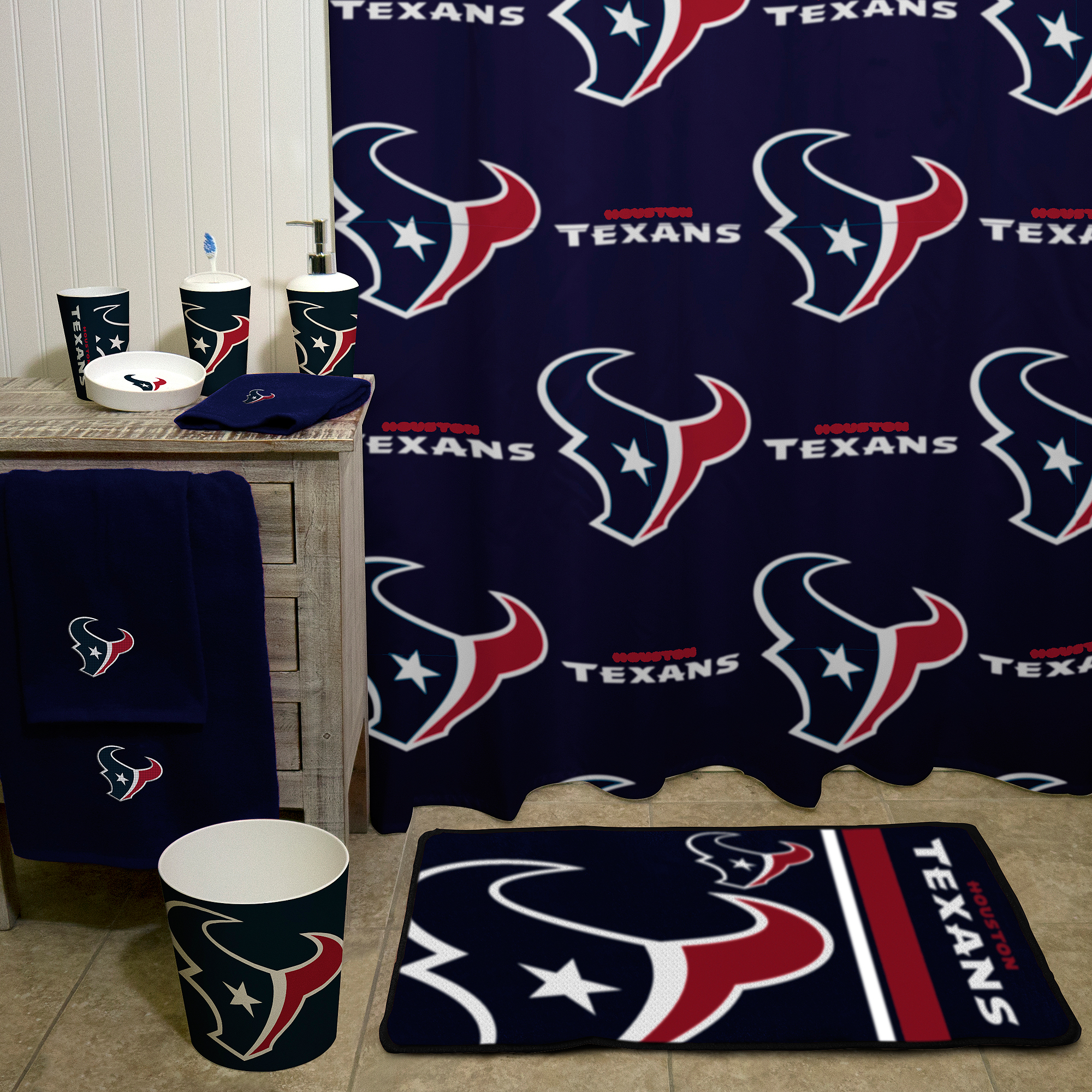 NFL Houston Texans 20 X 30 Round Edge Bath Rug