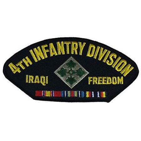 US ARMY FOURTH 4TH INFANTRY DIVISION ID IRAQI FREEDOM PATCH W/ RIBBONS OIF