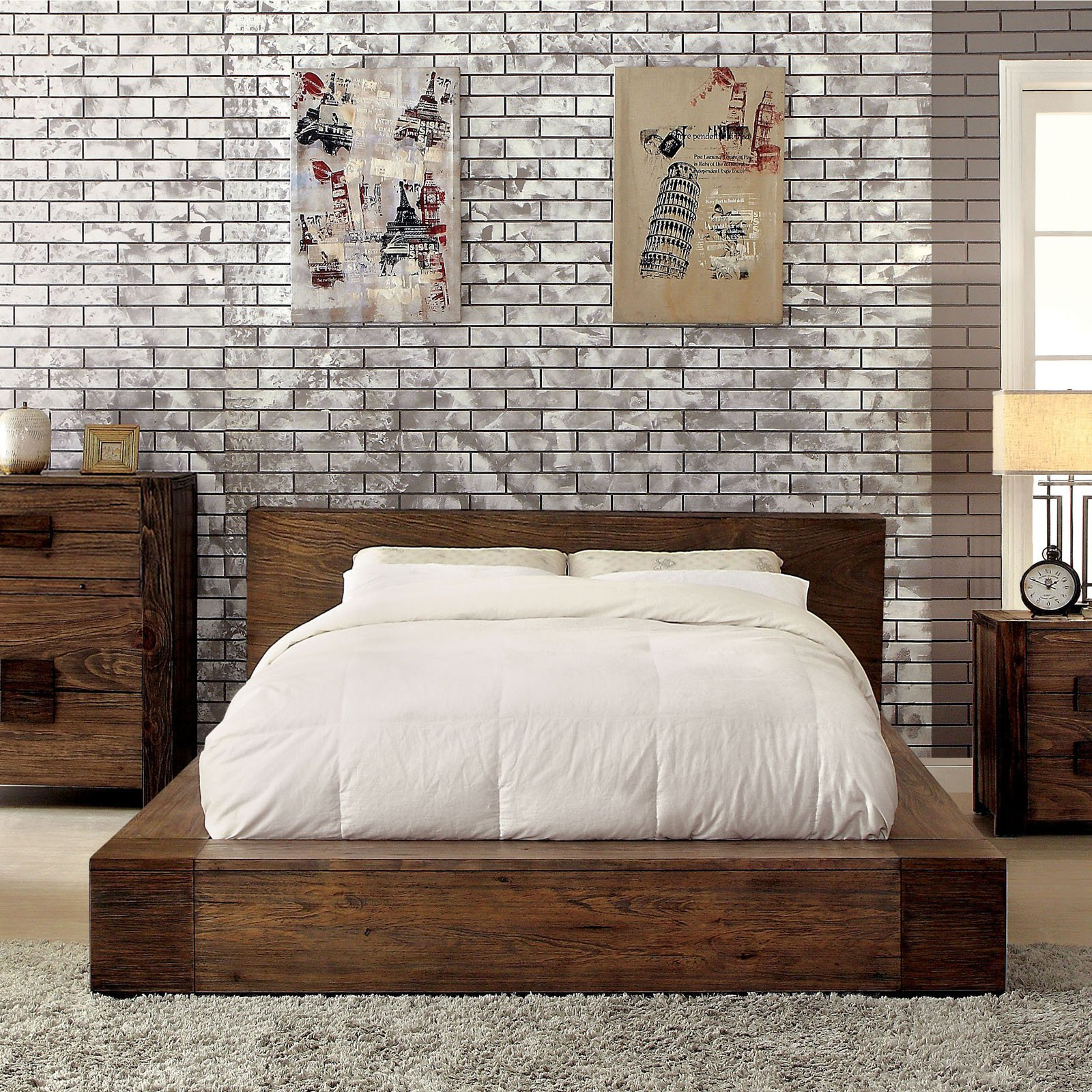 Furniture of America Oberon Low Profile Bed