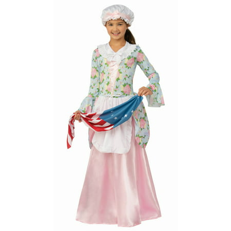 Patriotic Colonial Girl Costume - Girl Scout Uniform Costume