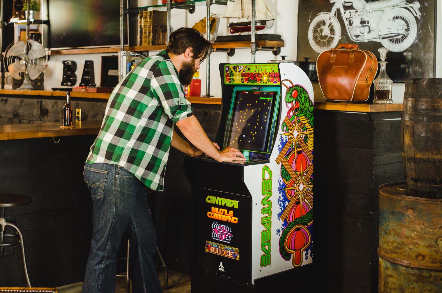Centipede Arcade Machine Arcade1up 4ft Walmart Com Walmart Com