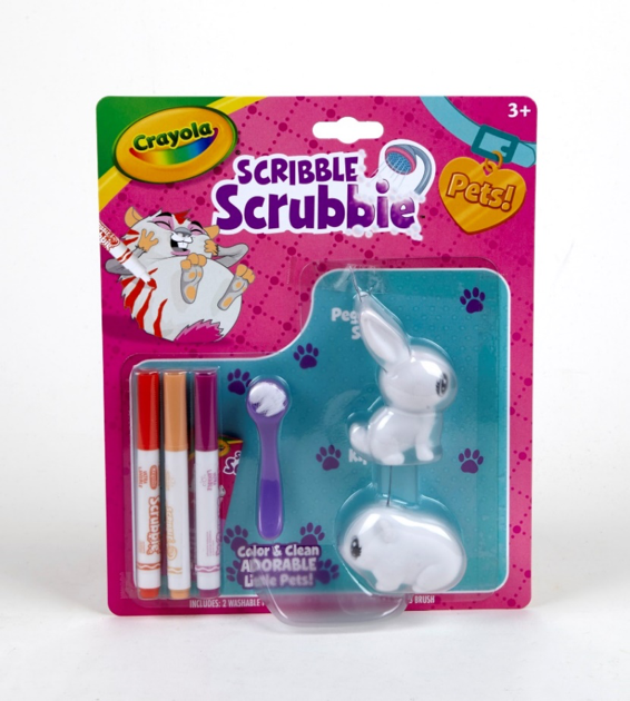 Crayola Scribble Scrubbie, Color & Wash Rabbit and Hamster Set, Ages 3+