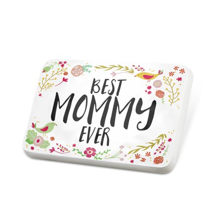 Porcelein Pin Happy Floral Border Mommy Lapel Badge – NEONBLOND