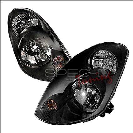 Spec-D Tuning Infiniti G35 Sedan 2003 2004 Euro Headlights - Black