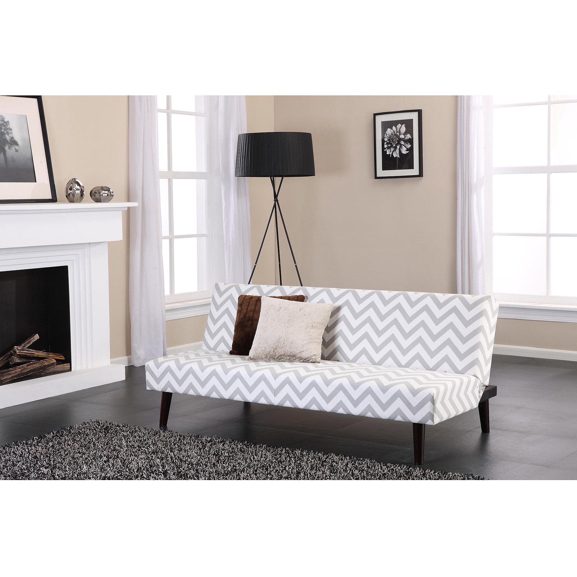 Allegra Pillow Top Futon Black Walmartcom