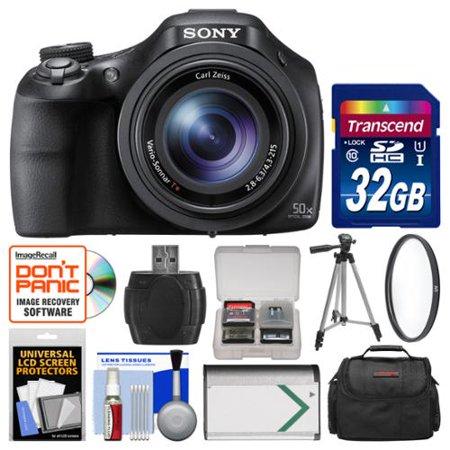 Sony Cyber-Shot DSC-HX400V Wi-Fi Digital Camera with 32GB Card + Case + Battery + Tripod + Filter +