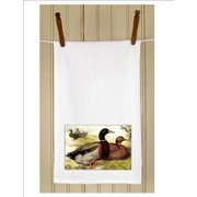 "Set of 3 Antique Style Rouen Ducks Print White Flour Sack Kitchen Hand Towels 29"""