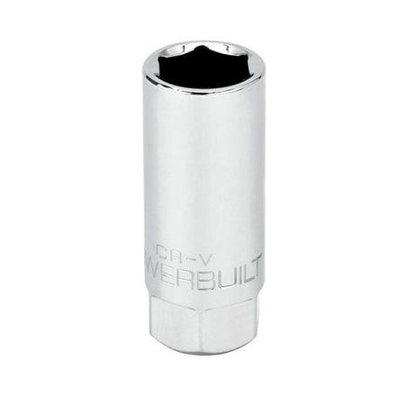 Powerbuilt 3/8-Inch Drive Spark Plug Socket 18mm