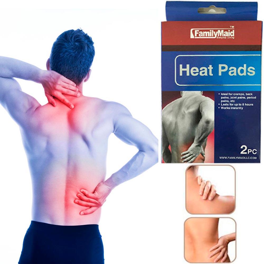 10 Heat Pads Pain Relief Therapy Press Hot Pack Wrap Air Activated Neck Shoulder
