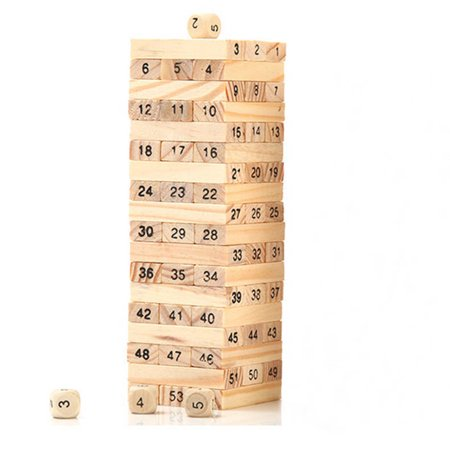 48PCS/Set Wooden Column Building Blocks Game Children Education Toy Number DIY Bricks Toys Baby Wood Blocks Toy Gift - image 5 de 6