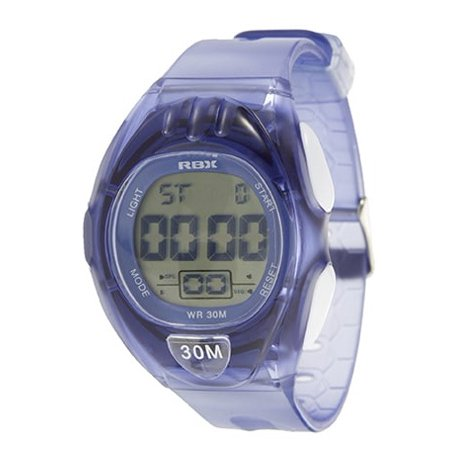 RBX Active Sport Digital Blue Rubber Strap Watch Blue Rubber Strap Watch