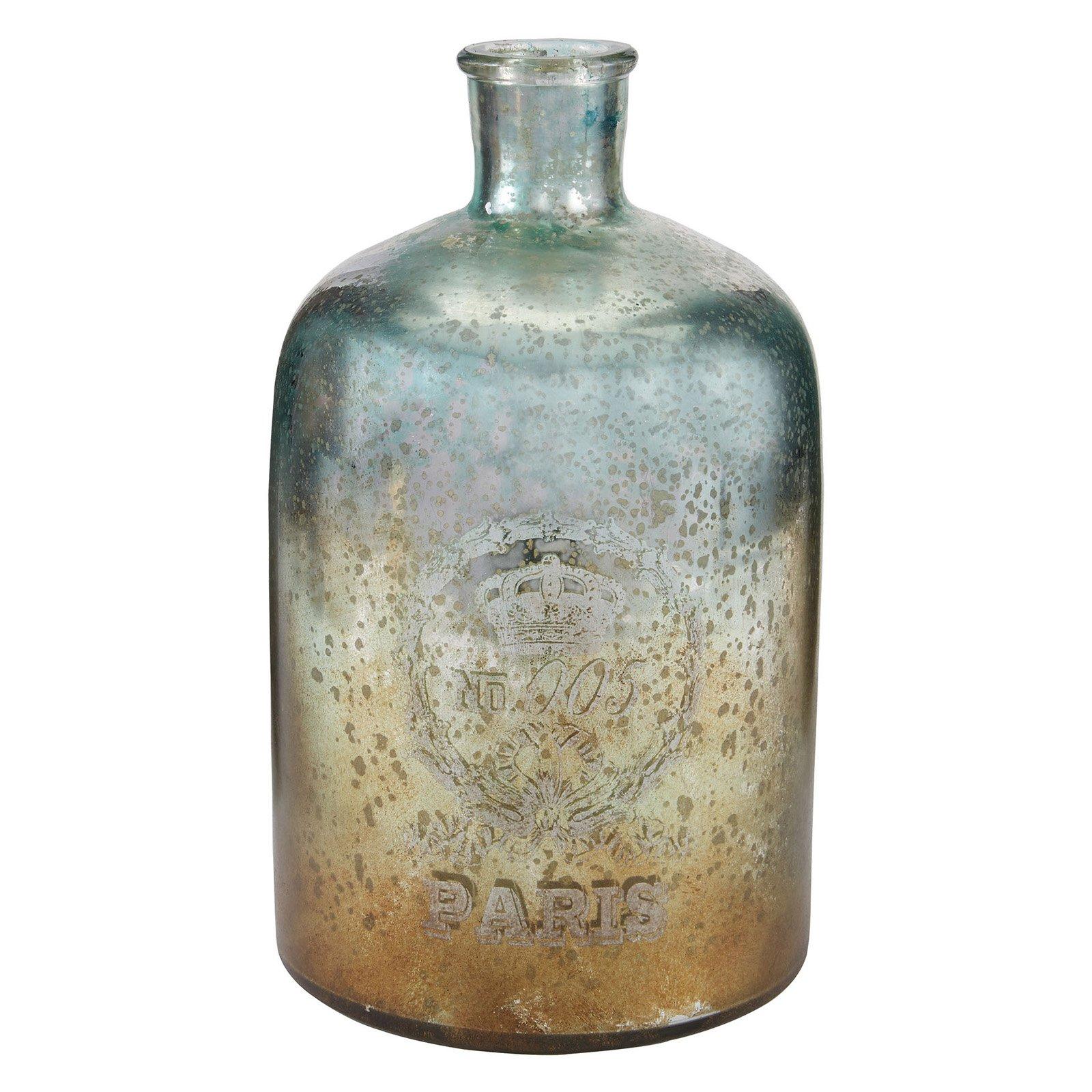 Sterling 12 in. Glass Bottle - Aqua