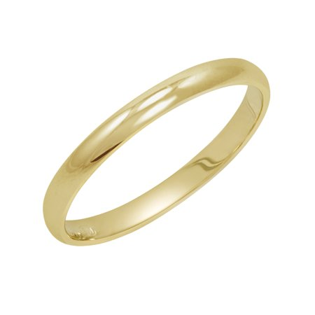 Women's 14K Yellow Gold 2mm Traditional Plain Wedding Band  (Available Ring Sizes 4-8 -