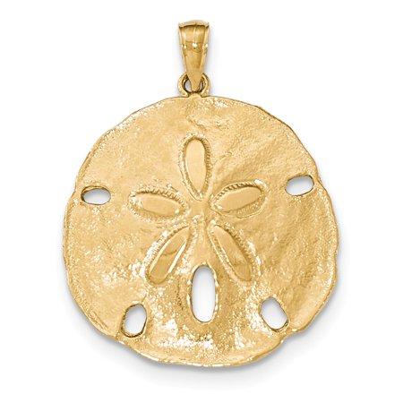 14k Sand - 14K Yellow Gold Sand Dollar Pendant