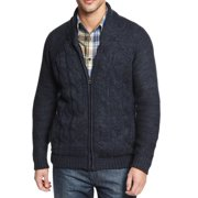 Weatherproof NEW Navy Blue Mens Small S Full Zip Cable-Knit Sweater $125
