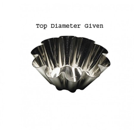 Tinned Steel Fluted Tartlet Mold - Gobel  Heavy-Tinned-Steel Fluted Brioche Mold 2-1/4