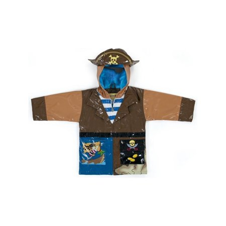 Kidorable Little Boys Brown Pirate Eye Patch Hat Hooded Rain Coat 2T-6X