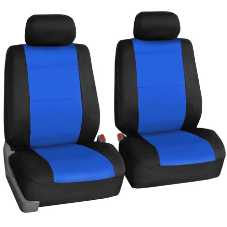 FH Group Neoprene Seat Covers for Sedan, SUV, Truck, Van, Two Front Buckets, Blue Black