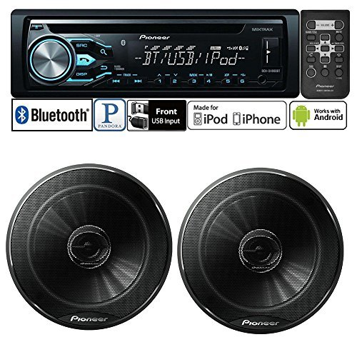 "Pioneer DEH-X4800BT CD Receiver w/ TS-165P 6.5"" 2-Way Speakers Package and a FREE SOTS Air Freshener"