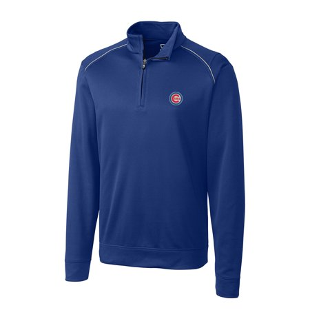Weathertec Jacket (Chicago Cubs Cutter & Buck Ridge WeatherTec Half-Zip Pullover Jacket - Royal )
