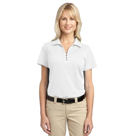 Port Authority® Ladies Tech Pique Polo. L527 White Xs - image 1 of 1
