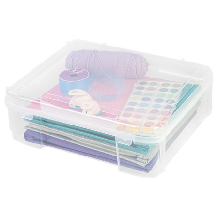 IRIS 14 in. x 14 in. Portable Project Organizer Case in Clear, great for Arts and Crafts, Scrapbooking Supplies Storage and Many More, Portable and Durable By IRIS USA Inc - Arts And Craft Stores