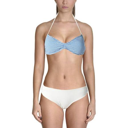 Polo Ralph Lauren Womens Seersucker Halter Swim Top (Seersucker Wrap)