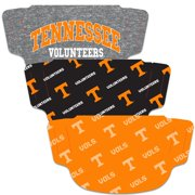 Tennessee Volunteers WinCraft Adult Face Covering 3-Pack
