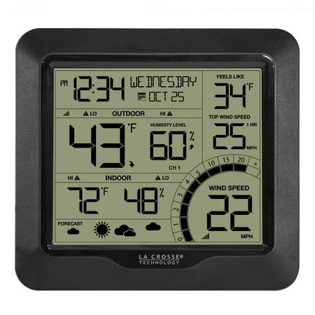 La Crosse Technology 327-1417BW Wind Speed Weather Station with Combination 3-in-1 (Best Wind Speed App)