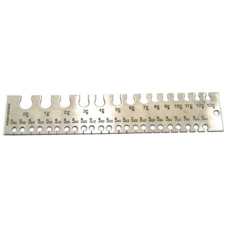 10 Gauge Sheet (British Wire & Sheet Gauge Sizing Sizer Diameter Measuring Jewelers Tool)