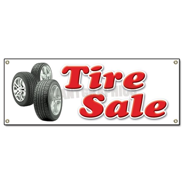 Tire Sale Banner Sign Shop Used Tires Signs Recap Retread