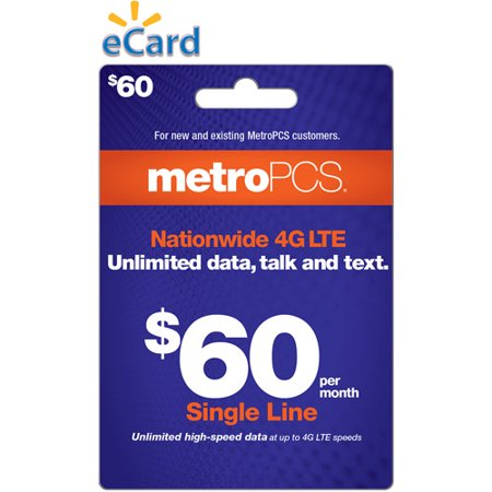 Email Delivery Metropcs 60 Payment Card Walmart