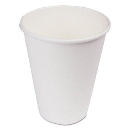 Boardwalk Paper Hot Cups, 12 oz, White, 1000/Carton (BWKWHT12HCUP)