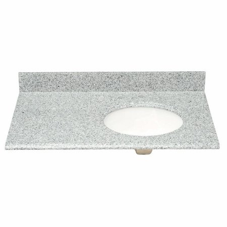Pegasus 37 39 39 Single Granite Vanity Top With Offset Right Bowl And Faucet Spread