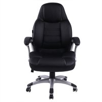 Iuhan Office Chair Leather Desk Gaming Chair With Massage Function Adjust Seat Height