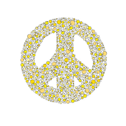 Cici Art Factory Lotsa Alphabet Art Peace Chicks Paper Print