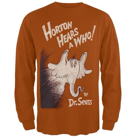 Dr. Seuss - Horton Cover Distressed Long Sleeve T-Shirt](Dr Seuss 1st Birthday Outfit)