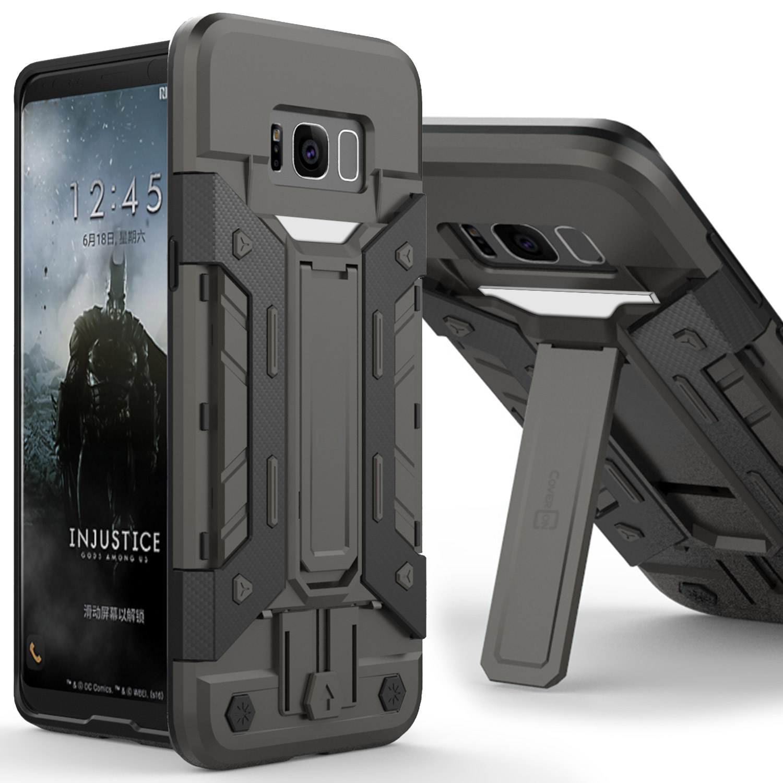 CoverON Samsung Galaxy S8 Case, SlideCard Series Hybrid Kickstand Phone Cover