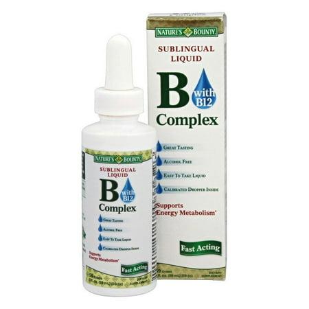 Nature's Bounty Vitamin B Complex Sublingual Liquid 2
